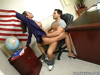 Sky Taylor riding cock in class