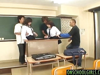 Konomi Adachi and gal get vibrators on crack and cocks in mouths