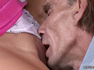 Young gf cheating with her BFs older man