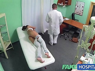 Pretty chick fucked by a doctor