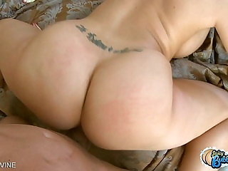Big assed Kelly Divine riding a large black cock