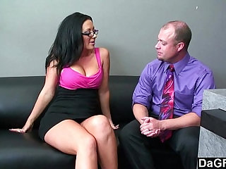 Busty chick sucking fucking to get the job