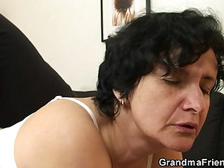 Her hairy pussy is toyed and fucked