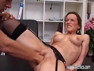 Horny milf fisted ass fucked and jizzed in her face