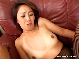 Milf In Fishnet Stockings Getting Pussy Stimulated And Fucked With Toys By