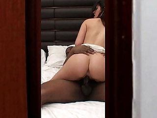 watching hot interracial cheating slut wife home alone