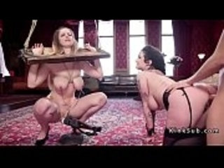 Hot fan babe gets slave training