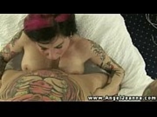 Tattood Angel Joanna titty fuck and BJ and fucked deep and hard
