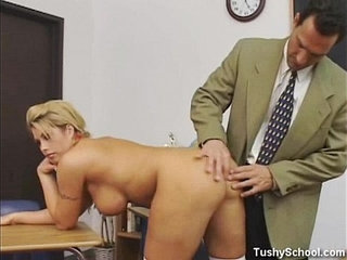 The schoolgirl passes examination!